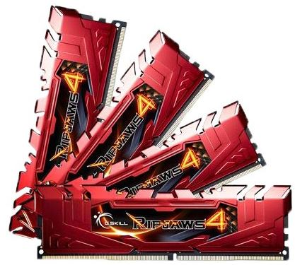 16GB G.Skill Ripjaws kit 4 DDR4 2400MHz PC4-19200 CL15 Quad Channel 4 x 4 GB