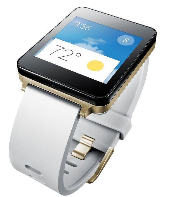 LG Electronics G Watch white gold