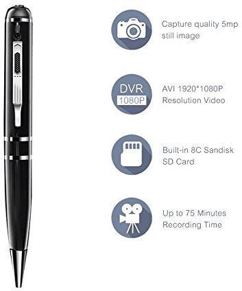 Ctronics Spy Pen Camera