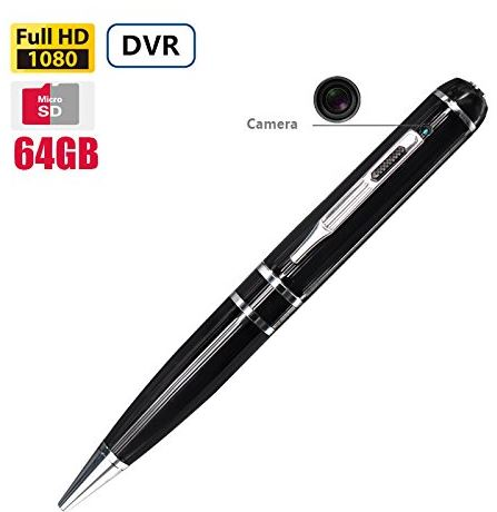 Fuvision 64GB FHD Video Spy Pen