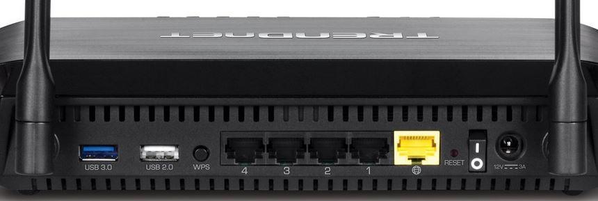 TRENDnet AC3200 Tri Band Wireless Router TEW-828DRU back