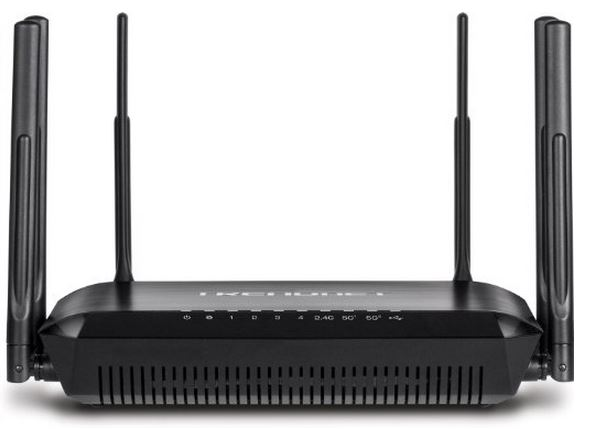TRENDnet AC3200 Tri Band Wireless Router TEW-828DRU front
