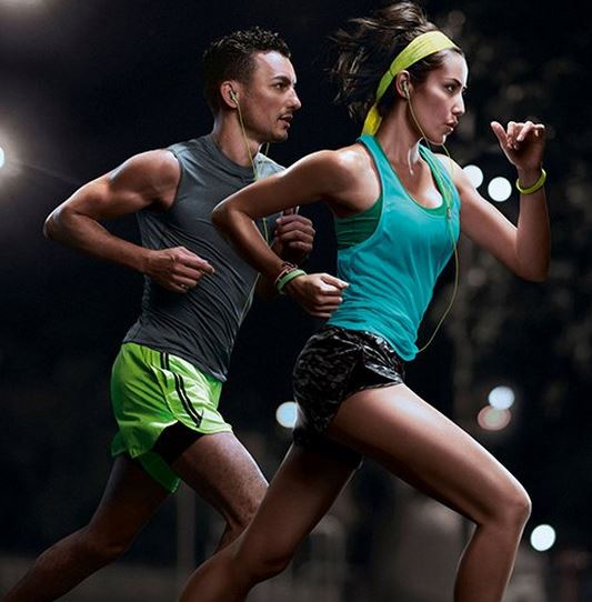 Philips SHQ1300LF 27 ActionFit Sports Headphones in use