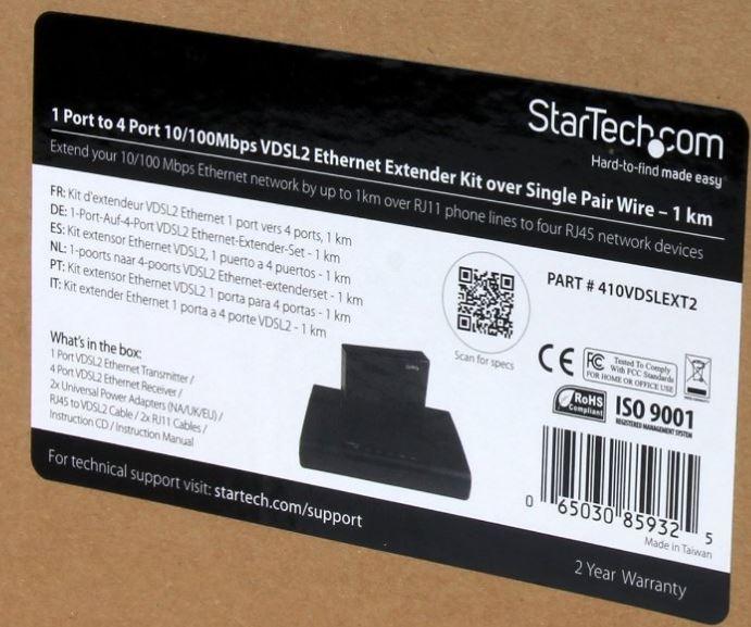 StarTech VDSL2 Ethernet Extender Kit