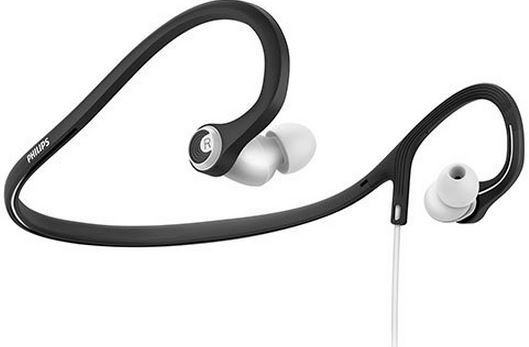 Philips SHQ4300WS-27 ActionFit Earbuds Neckband Headphones