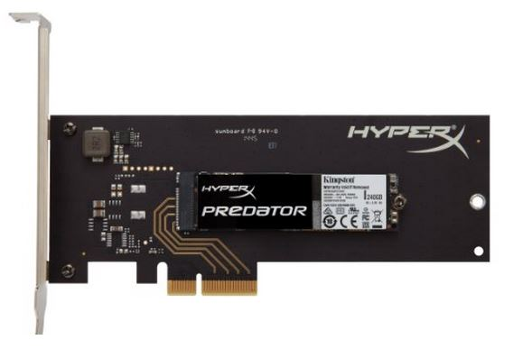 Kingston Digital HyperX Predator PCIe Gen2 x4 Solid State Drive SHPM2280P2H