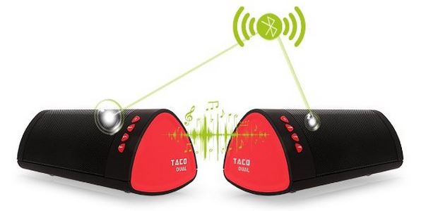 iDeaUSA TACO Dual Boombox Wireless Speakers