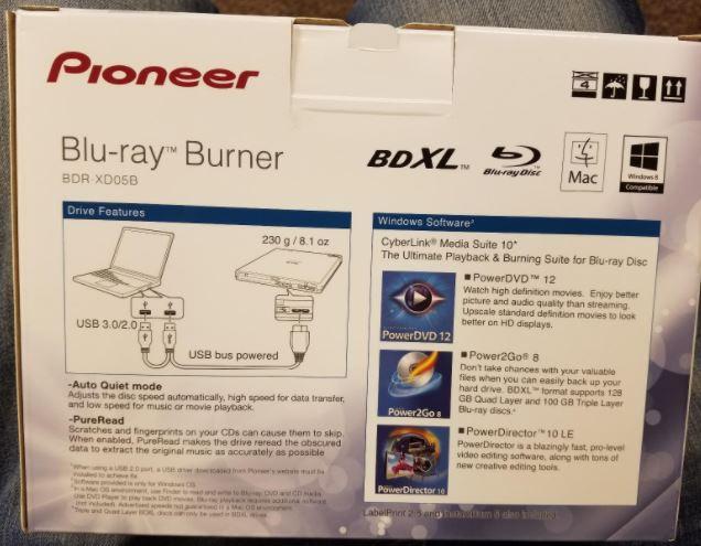 Pioneer Slim BDR-XD05B