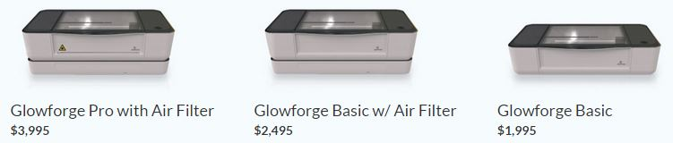 glowforge packages