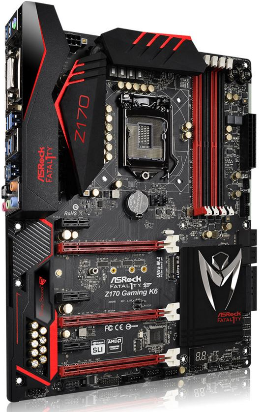 ASRock Fatal1ty Z170 K6 Gaming Motherboard