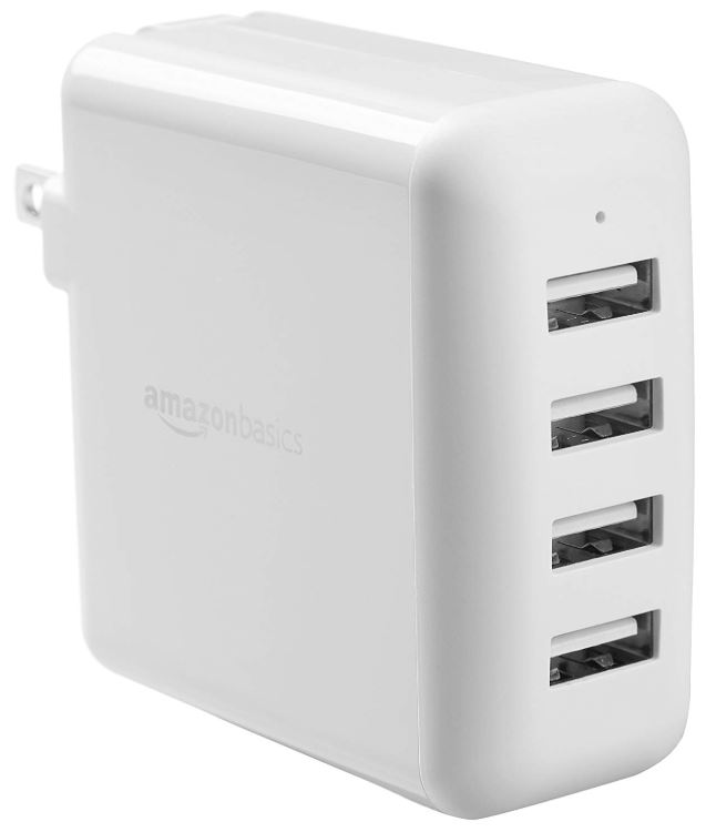 AmazonBasics 40W 4-Port USB Wall Charger