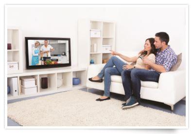 enjoying smart tv