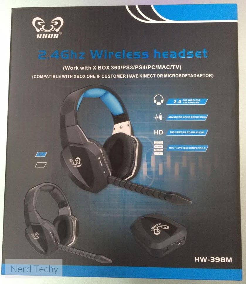 HUHD HW-398M Wireless Gaming Headset box front