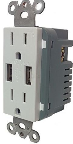 Sunco Lighting 15-Amp High Speed USB Charger and Duplex Receptacle