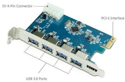 Anker Uspeed USB 3.0 PCI-E Express Card