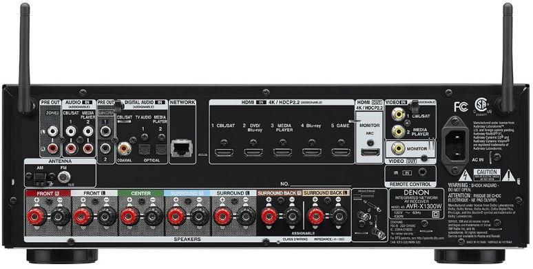 Denon AVR X1300W back