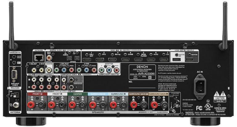 Denon AVR X2300W back
