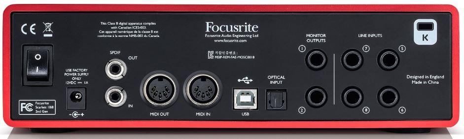 Focusrite-Scarlett-18i8 back