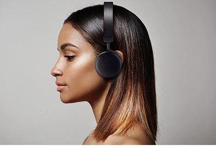 Image result for headphones on model