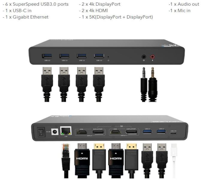 Wavlink Universal USB-C Ultra 5K Docking Station