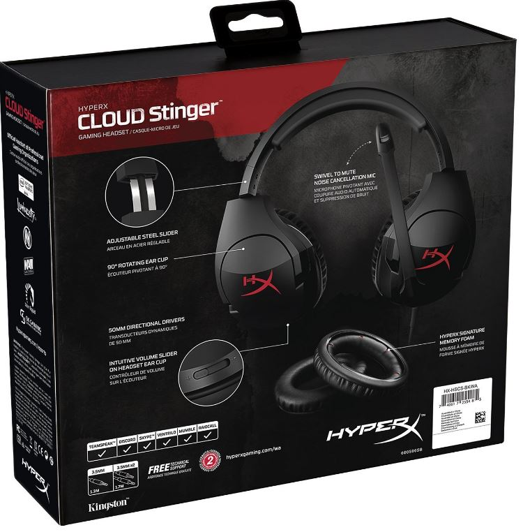 HyperX Cloud Stinger Box