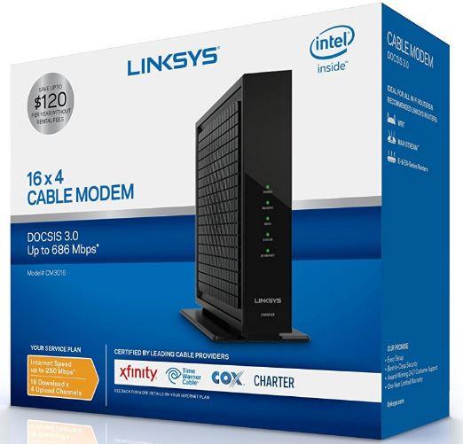 Linksys CM3016 Box
