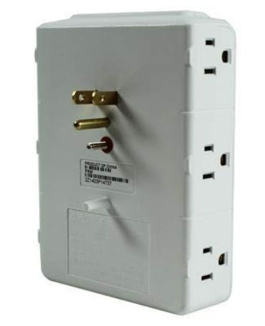 APC 6-Outlet Wall Surge Protector#