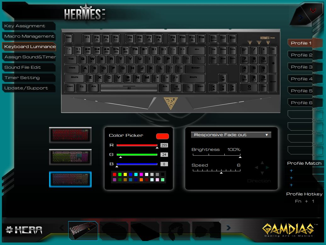 Gamdias Hermes RGB software