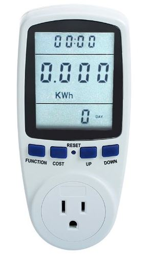 Floureon LCD Display Plug Power Meter