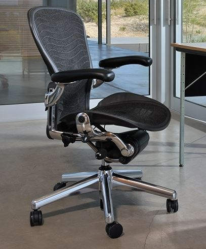 Herman Miller Classic Aeron Task Chair & Best Ergonomic Office Chairs for Long Hours of Sitting 2018-2019