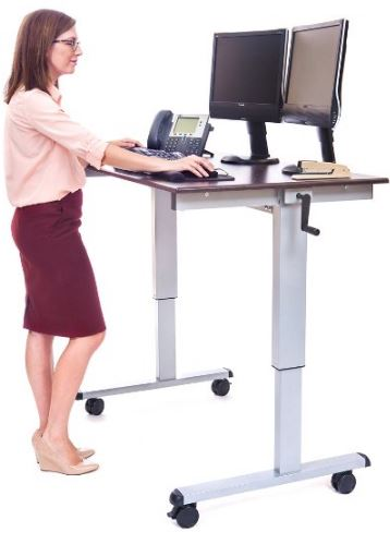 Luxor Crank Adjustable Stand-Up Desk