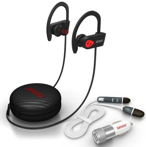 Earbuds that hook around ear - senso Earbuds Maine