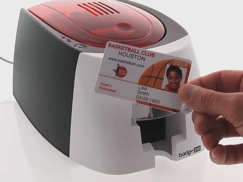 what sets this printer apart from other direct to card printers is that the head and the ribbon are slightly larger than the actual card itself - Id Card Printer