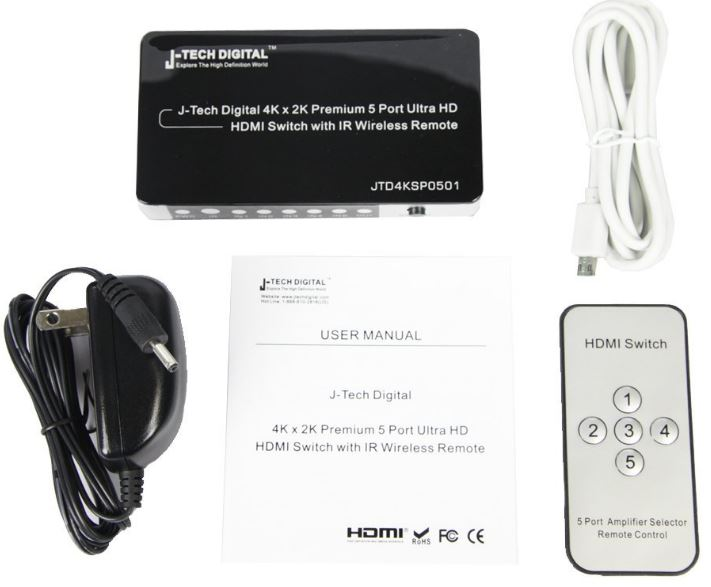 J-Tech Digital HDMI Switch