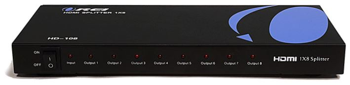 OREI HD-108 8-port HDMI Splitter