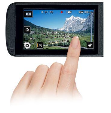 Canon-VIXIA-HF-R80-R82-touch-panel screen