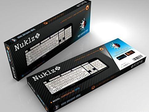 Nuklz Large Print Computer Keyboard