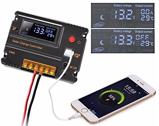 Mohoo 20A Intelligent Charge Controller