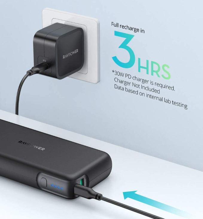 RAVPower 20000 mAh USB-C Power Bank