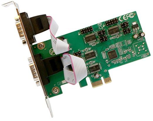 IO Crest PCI-Express 4-Port DB9 Serial RS232 Card