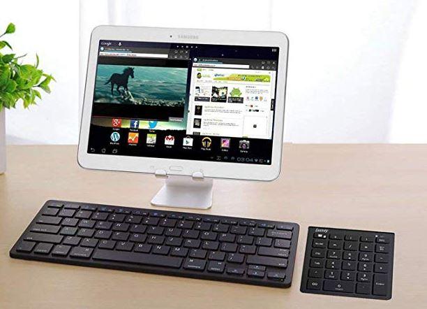 Lekvey Portable Wireless Bluetooth 28-Key Numeric Keypad