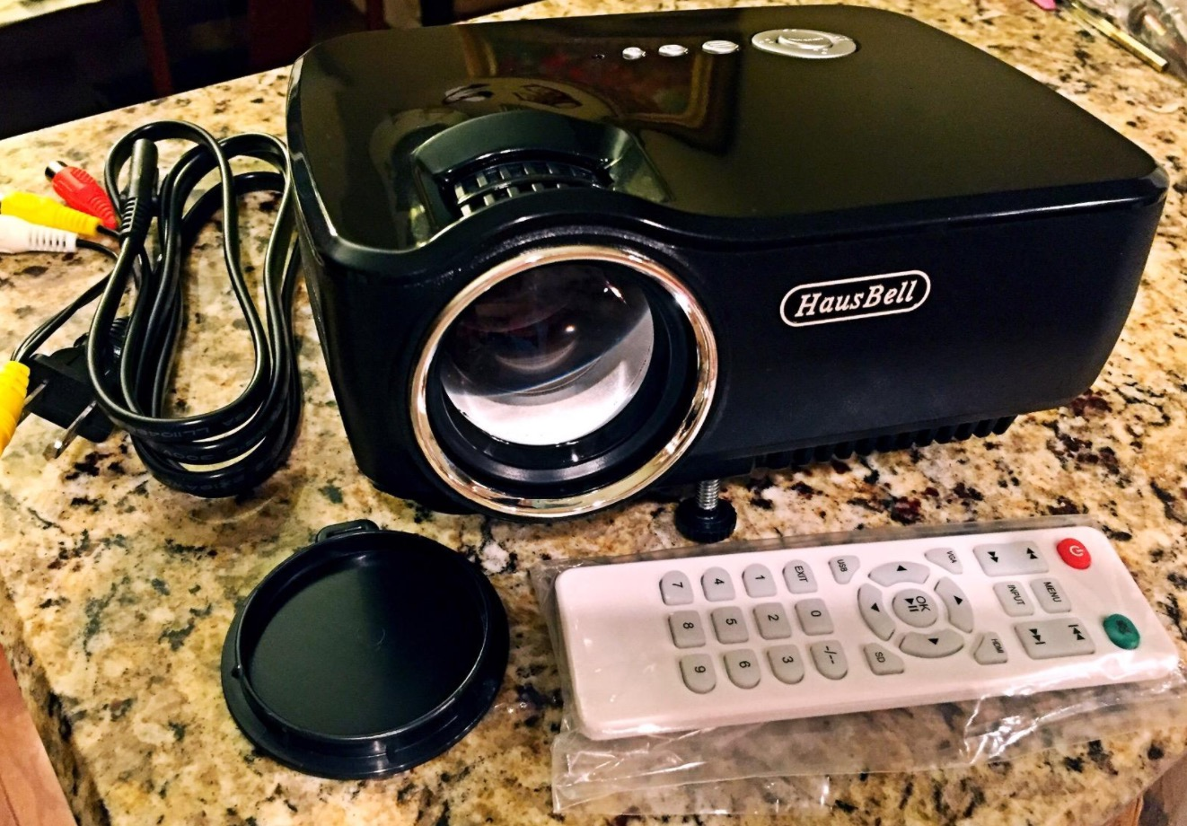 Hausbell Portable Projector