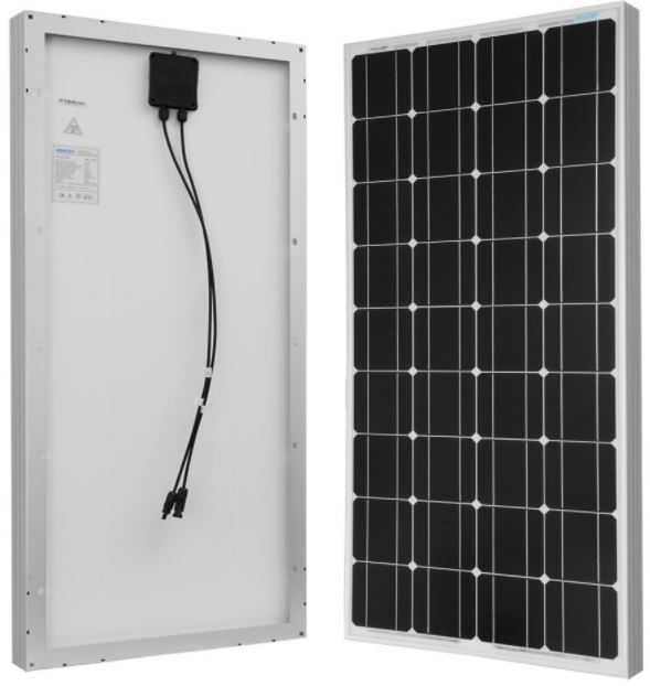Renogy 100 Watts 12 Volts Monocrystalline Solar Panel