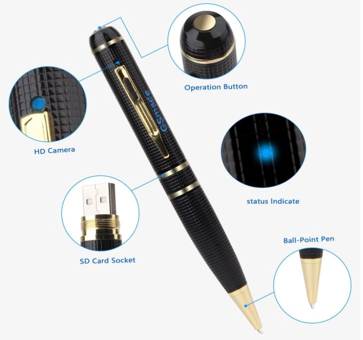 GSmade Full HD 2K Spy Pen Camera