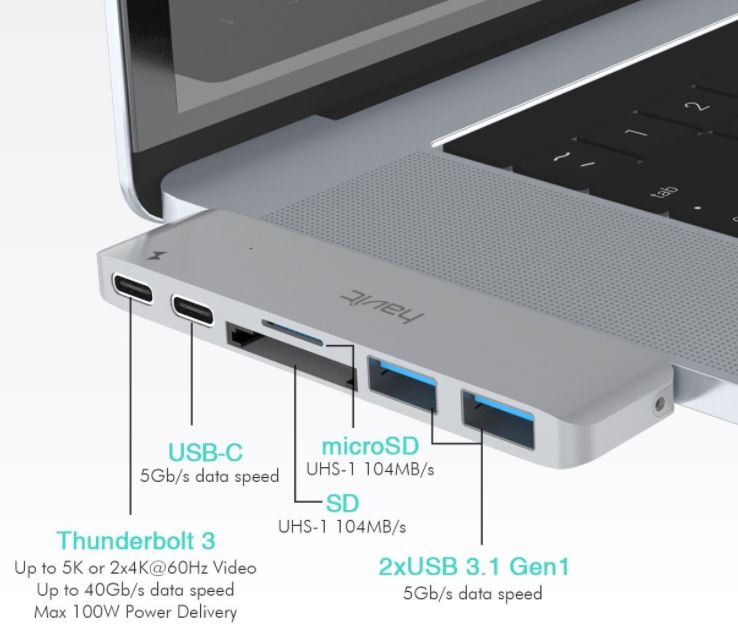 Havit T90 Thunderbolt 3 Dock Hub