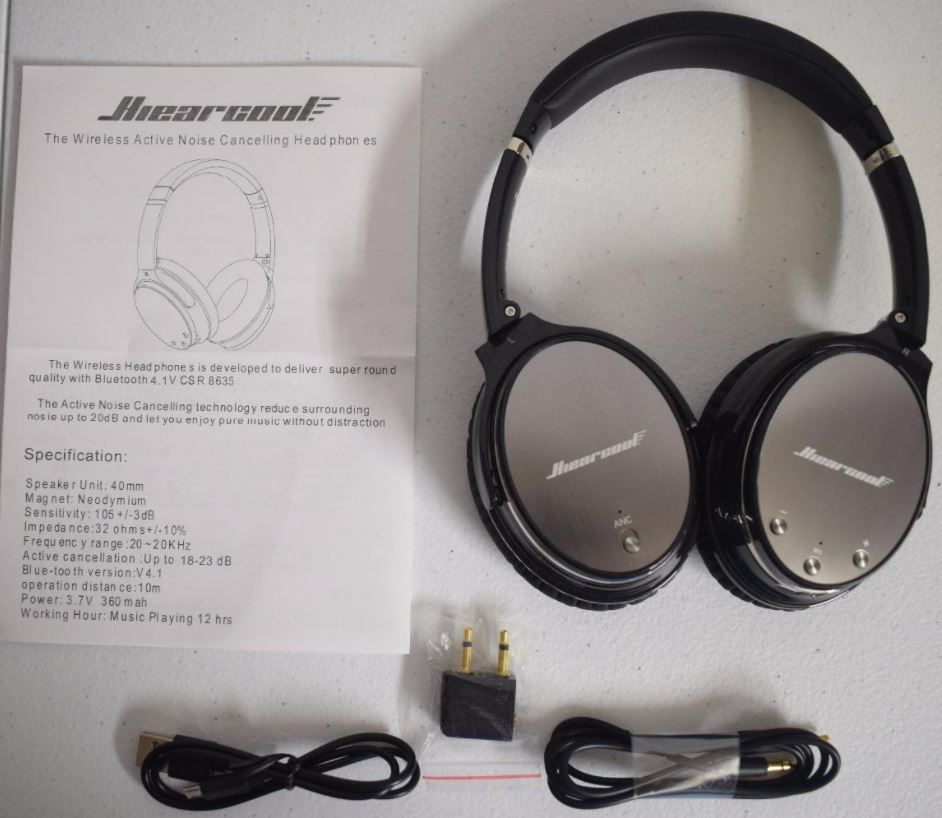 Hiearcool L1 Active Noise Canceling Headphones Review - Nerd