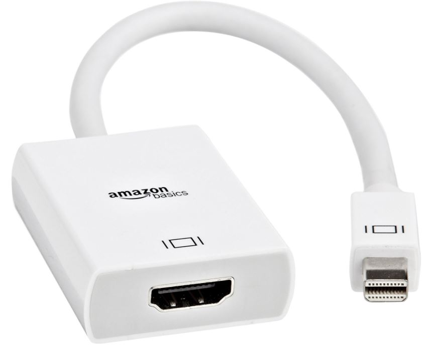 AmazonBasics Mini DisplayPort Thunderbolt to HDMI Adapter Passive