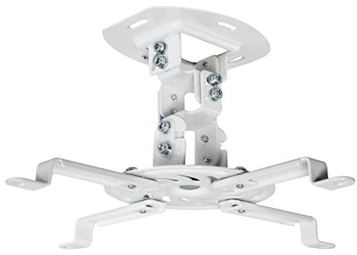 Vivo Universal Adjustable White Ceiling Projector Mount