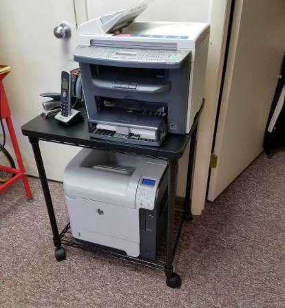 Safco 5208BL Wire Printer Stand