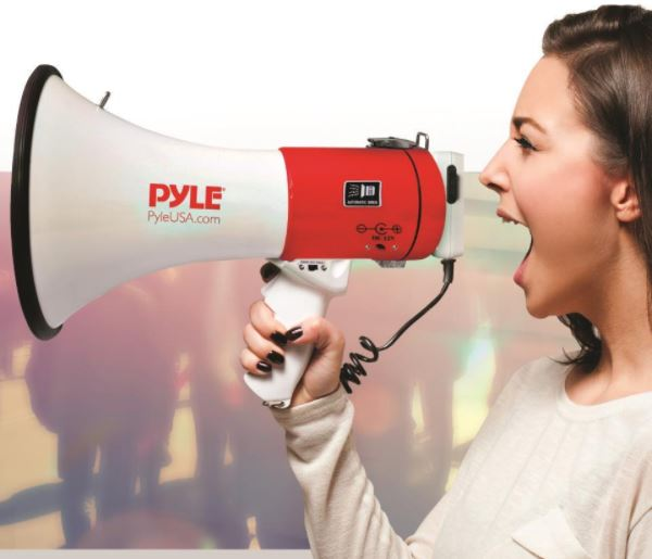 using a megaphone